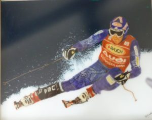 Downhill Skier by After Japanese Print