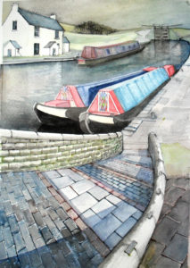 Two working boats by John Lowerson