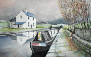 A Quiet Canal Mooring by John Lowerson