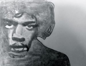Jimi Hendrix Portrait by Jade's Gallery