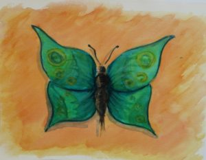 Green Butterfly by Camilla Williams