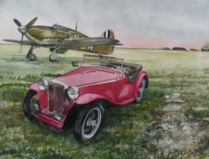 Hawker Hurricane and MG by John Lowerson