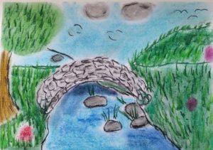 Bridge over river by Jade's Gallery