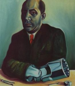 The Mechanic…self portrait wearing a red tie… by Geoffrey Cervantes
