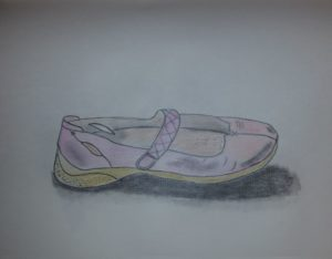 My pink shoe by me by Jade's Gallery