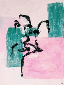 Figures in green and pink by Annabel Wyatt