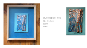 Blue copper tree by Nathalie Lomas