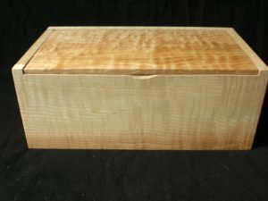Ripple and quilted ash box. by Sue Burbidge