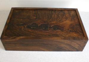 English walnut box. by Sue Burbidge