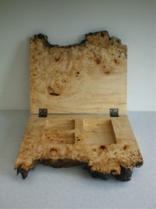 Burr horse chestnut box. by Sue Burbidge