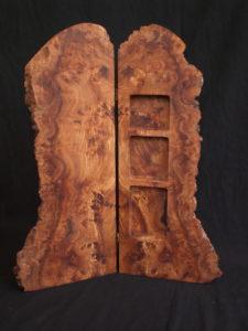 Burr elm cabinet. by Sue Burbidge
