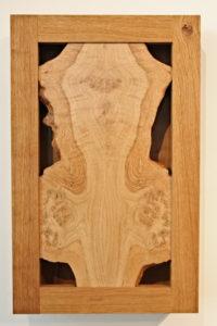 Oak wall cabinet (Exterior) by Sue Burbidge