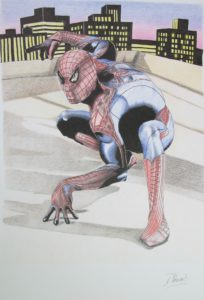 Rooftop Spiderman by David Hunt