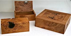 Damaged goods – three boxes. by Sue Burbidge