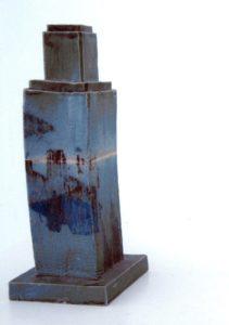 Art Deco Skyscraper (Blue) by James Tanner