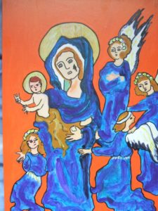 Madonna and Angel by Elzbieta Harbord