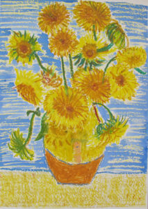 Sunflowers After Van Gogh by Peter Honey