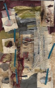 Mixed media collage 14 by jess levine