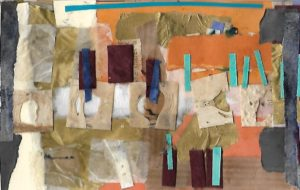 Mixed media collage 7 by jess levine