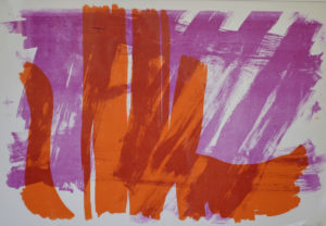 A BRUSH WITH ORANGE by PURPLE WINDOWS