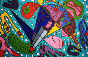 A Knives Edge by julie Bagwash