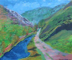 A Mountainous Scene in Derbyshire by Bernard Parker
