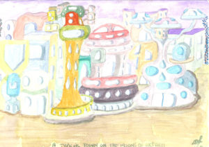 A Typical Town on the Moons of Akfarli by Lillian D French