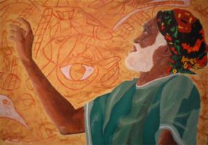 Aborigine Chalk Man by A.W.J.Pilgrim