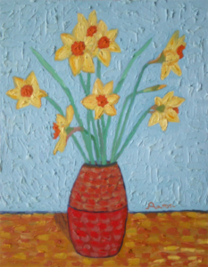Vincent Van Gogh Pastiche of Daffodils by A.W.J.Pilgrim