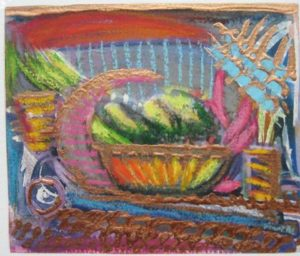 Cucumbers in Copper Bowl by Annette Crompton