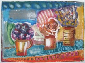 Flowers in Vases by Annette Crompton