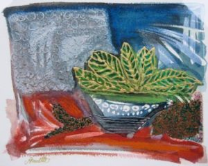 Leaves in Bowl by Annette Crompton