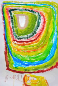 acrylic_and_pen_on_paper._2010._66__x46__ by Untitled