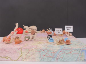 Troops in snails out by Heather Beveridge