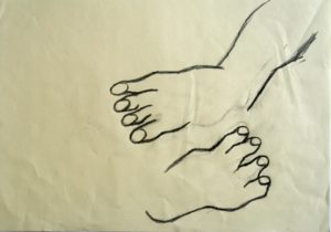'Two feet one with ankle' by Alan Barden