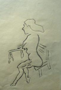 Woman on Balcony by Alan Barden
