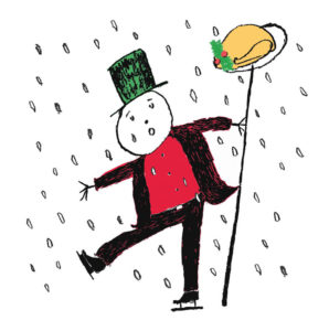 Snowman Christmas Card by Alice Fletcher