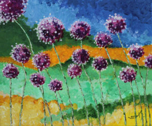 Alliums in the wind by Leena  AS