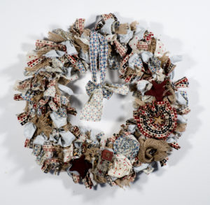 American Primitive Style Country Wreath by Susan Hunt
