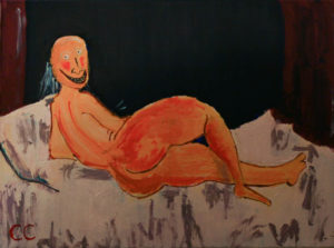 An Audience with Peter Mortimer. After Modigliani. by Colin Cameron