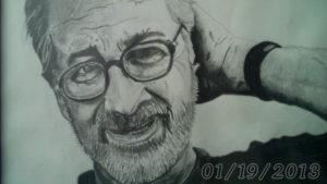 portrait of Steven Spielberg by Paul Ashton