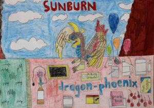 Sunburn Dragon Phoenix by Arlen Branch