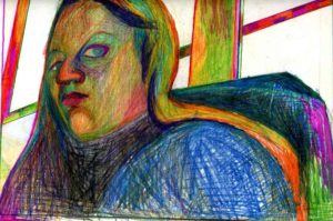 Self portrait by Debbz