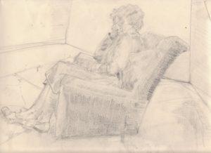 Reclining woman by blodwyn jones