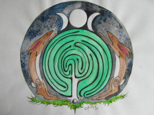 Moon Hares and Mystical Maze by rachel henderson