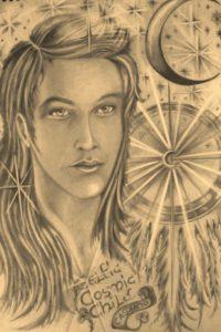 Cosmic Celtic Child by rachel henderson