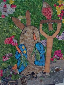 Peter Rabbit Collage by Jade's Gallery