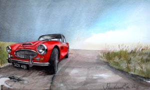 Austin Healey 3litre at the Coast by John Lowerson