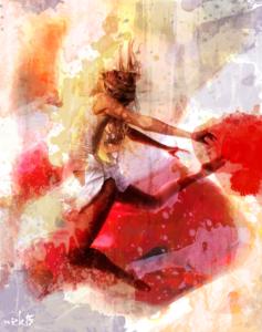 Full Colour Splurge Dancer by Holy Carrot