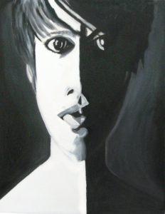 Black & White Portrait Study by Adrian Mitchell